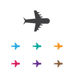 of holiday symbol on airplane vector image vector image
