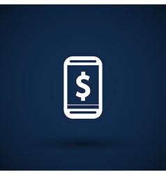 Phone tariff plan cost icon money spending vector