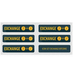 Rectangular horizontal buttons exchange vector