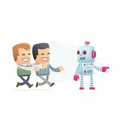 Robot controls peoples minds vector