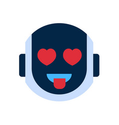 Robot face icon smiling face emotion robotic emoji vector