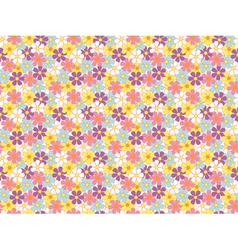 seamless soft color flowers pattern vector image vector image