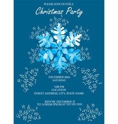 Snowflake blue invitation vector