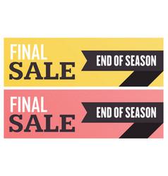 Social media final sale banner vector