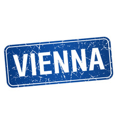 Vienna blue stamp isolated on white background vector
