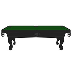 Vintage pool table vector image