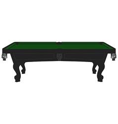 Vintage pool table vector