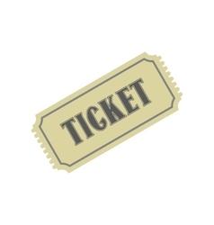 Vintage ticket flat icon vector