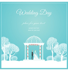 Weding arch park vector image