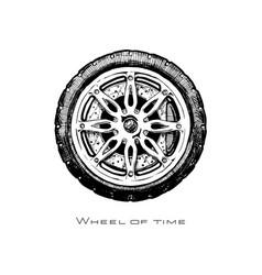 wheel of history vector image