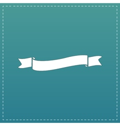 Flat ribbon icon vector