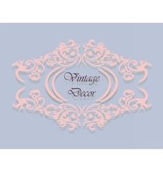 Vintage decor frame in pink vector image