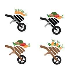Wheel barrow vector