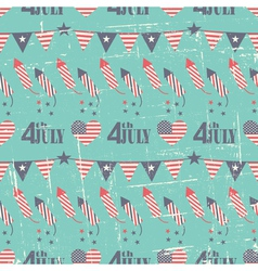 Patriotic seamless pattern for independence day vector