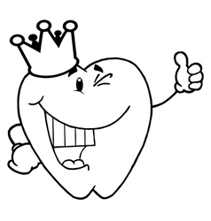Caroon tooth vector image
