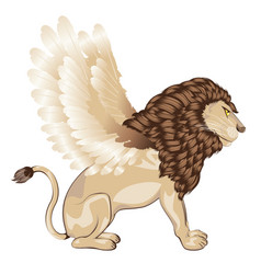 Lion with wings cartoon vector
