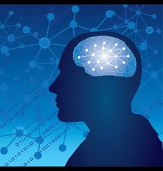 Brain human thinking concept vector