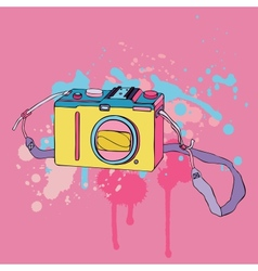 Photo camera hand drawn vector