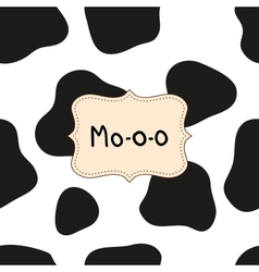 Mo-o-o background vector