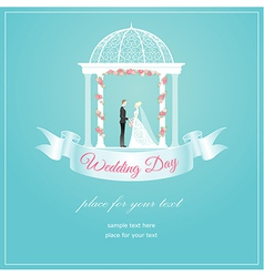 Weding arch ribbon vector