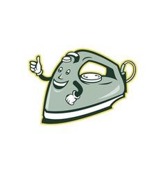 Electric Iron Mascot Thumbs Up Cartoon vector image