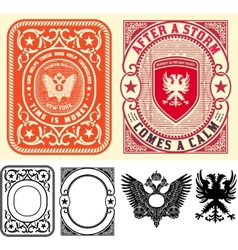Premium quality cards set baroque ornaments and vector