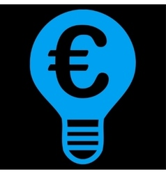 Bulb icon from bicolor euro banking set vector