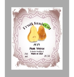 Vintage fruit alcohol labels vector