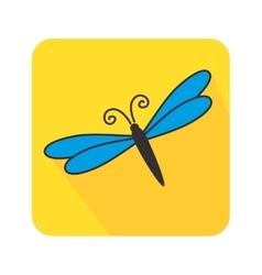 Butterfly cute cartoon design vector image