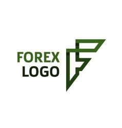 Abstract logo for forex f lettercompanies vector