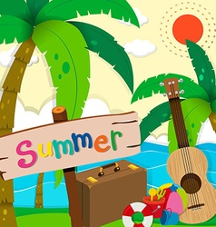 Summer theme with ocean view vector