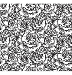 Wedding rose seamess pattern vector