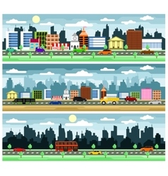 City street with buildings vector