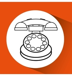 Old phone design vector
