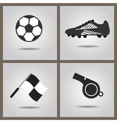 Abstract isolated soccer icons set vector