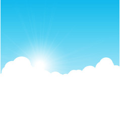 Blue sky background with clouds vector image vector image