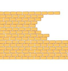Brick background vector