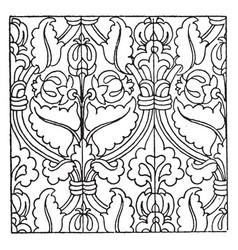 Carpet pattern is a german renaissance design vector