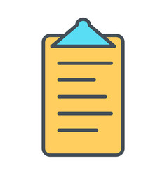 checklist line icon clipboard in outline style vector image
