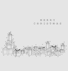 christmas holiday card background collection of vector image vector image