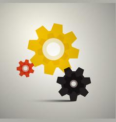 Cogs gears cog icon gear symbol vector