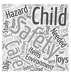 Day care safety word cloud concept vector