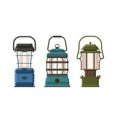 Diode lantern set vector