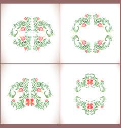 Elegant red ornament se vector