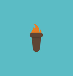 flat icon torch element of vector image vector image