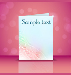 Greeting card with light effects vector