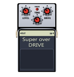 guitar pedal vector image