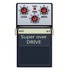 Guitar pedal vector