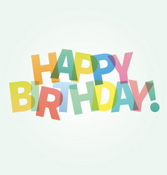 happy birthday card colorful vector image