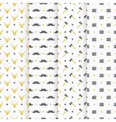Hipster seamless pattern collection vector